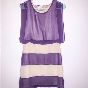 Paper dolls purple and cream dress size M